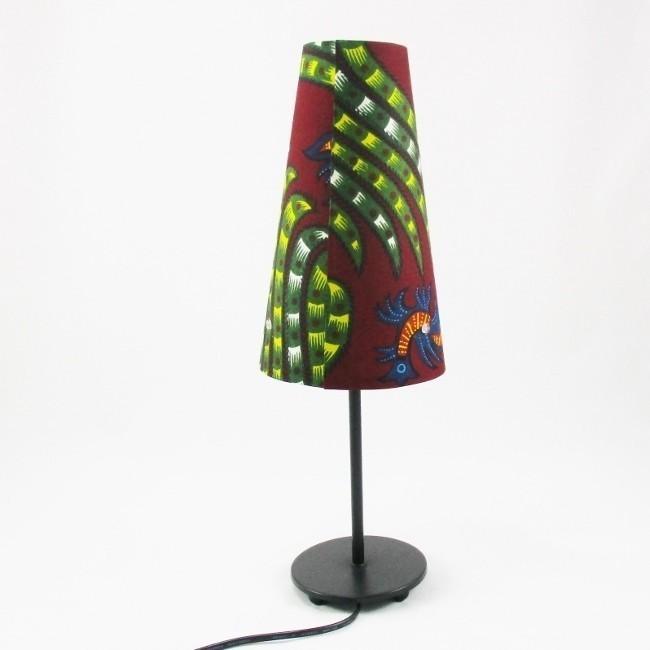 Lampe Wax Bordeaux Pied Metal Noir Par Reve De Lampes Lampes Et
