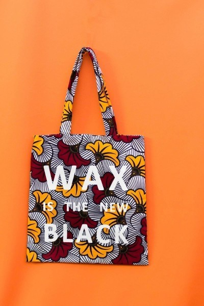 764ce671e Tote Bag Is The New Black Wax Printed Hibiscus by wax-is-the-new ...