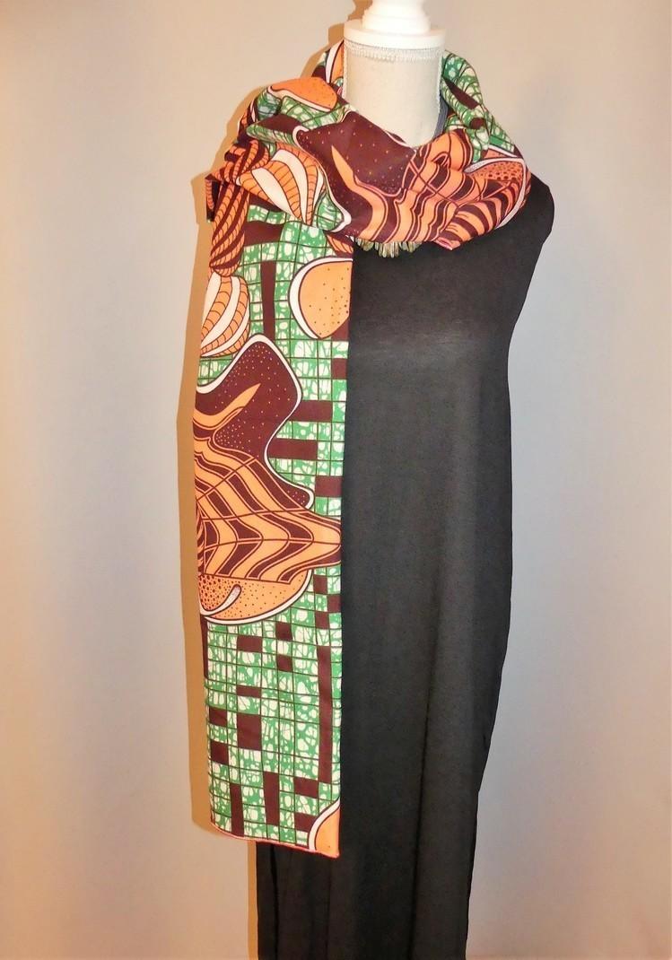 fb64f7a9e FOULARD , ECHARPE ,PAREO en wax (pagne africain) - Foulards et Chales  multicolore, , , , pour elle, wax,