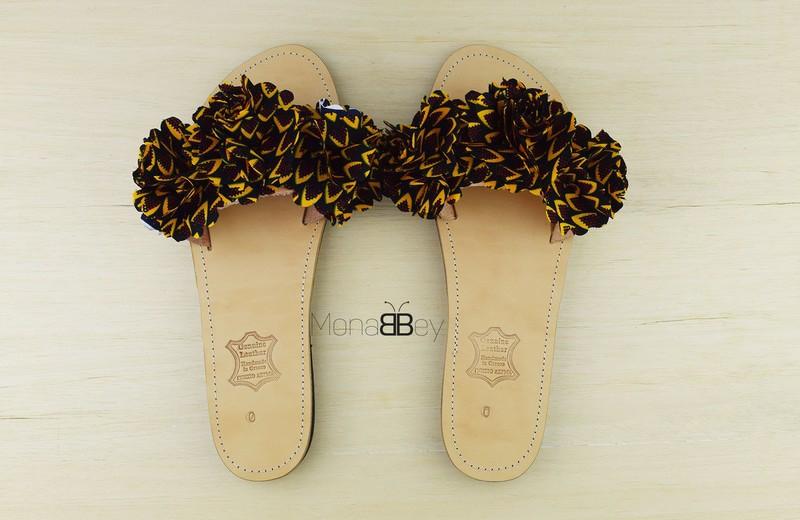 81bc2b3f402 African fabric flip flops