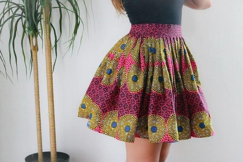 tissu africain jupe