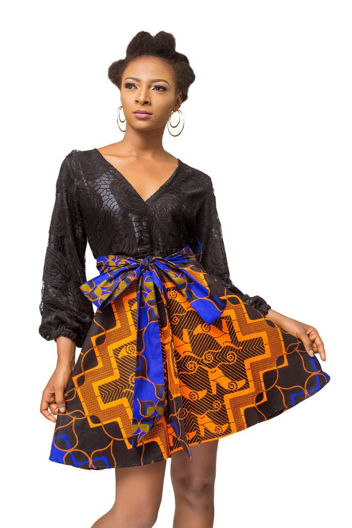 bd33cdbc35191 African Print dress, Ankara dress, African Womens Clothing, Fit And Flare  dress