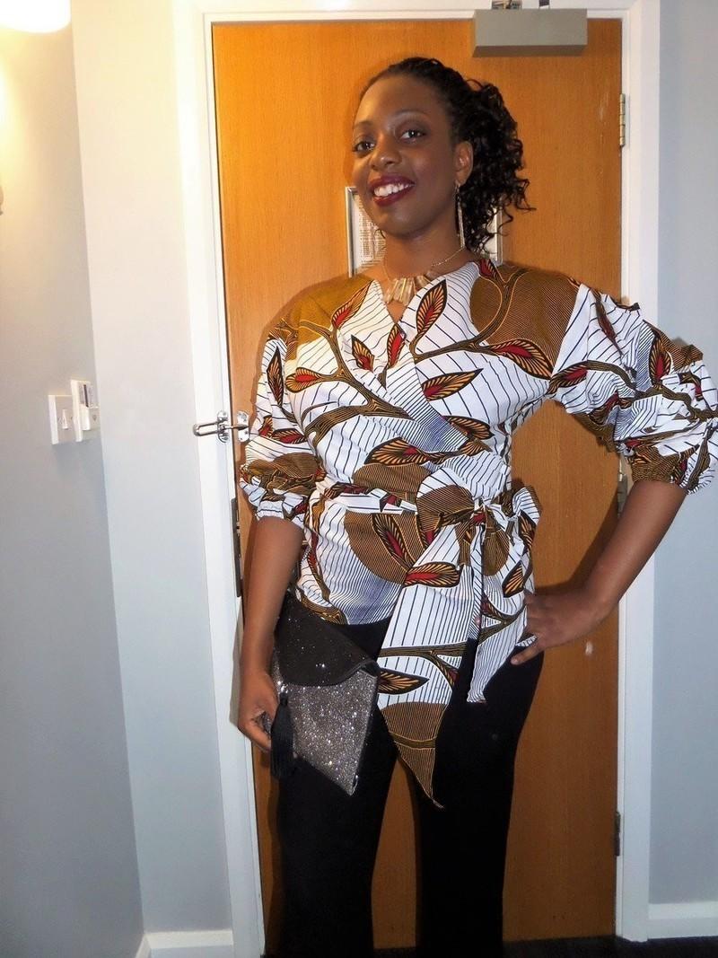 tunique cache coeur en wax pagne africain par pagnshopea tuniques afrikrea. Black Bedroom Furniture Sets. Home Design Ideas