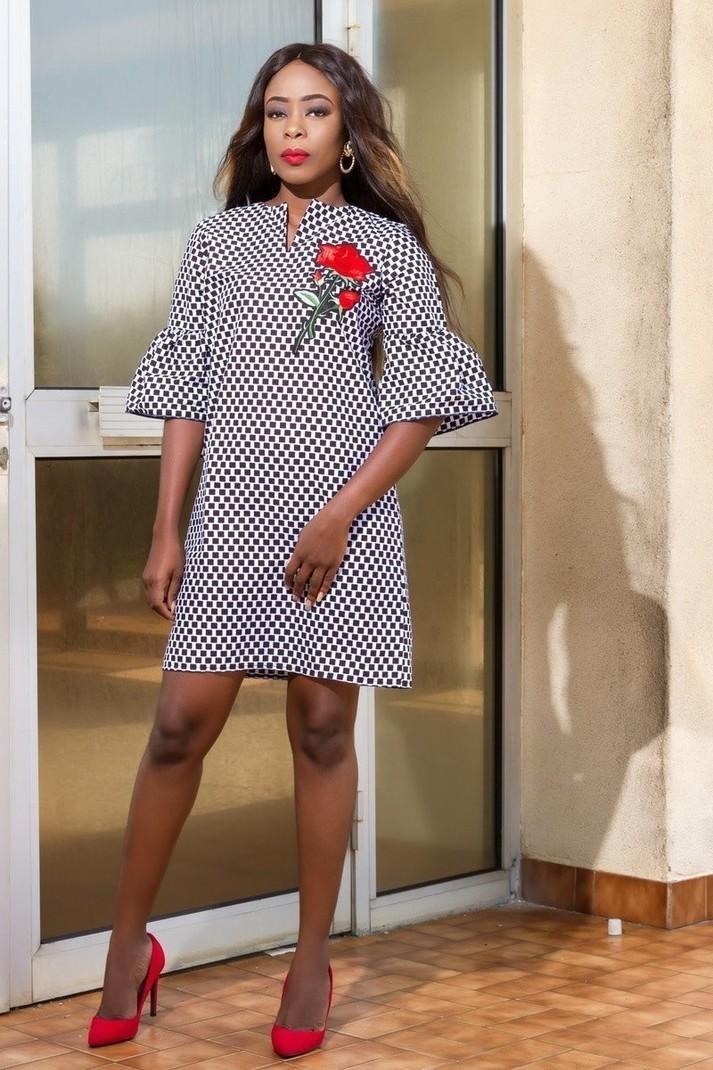 bcd6252b7f9fb Straight dress in wax by ade-wear - Short dresses - Afrikrea