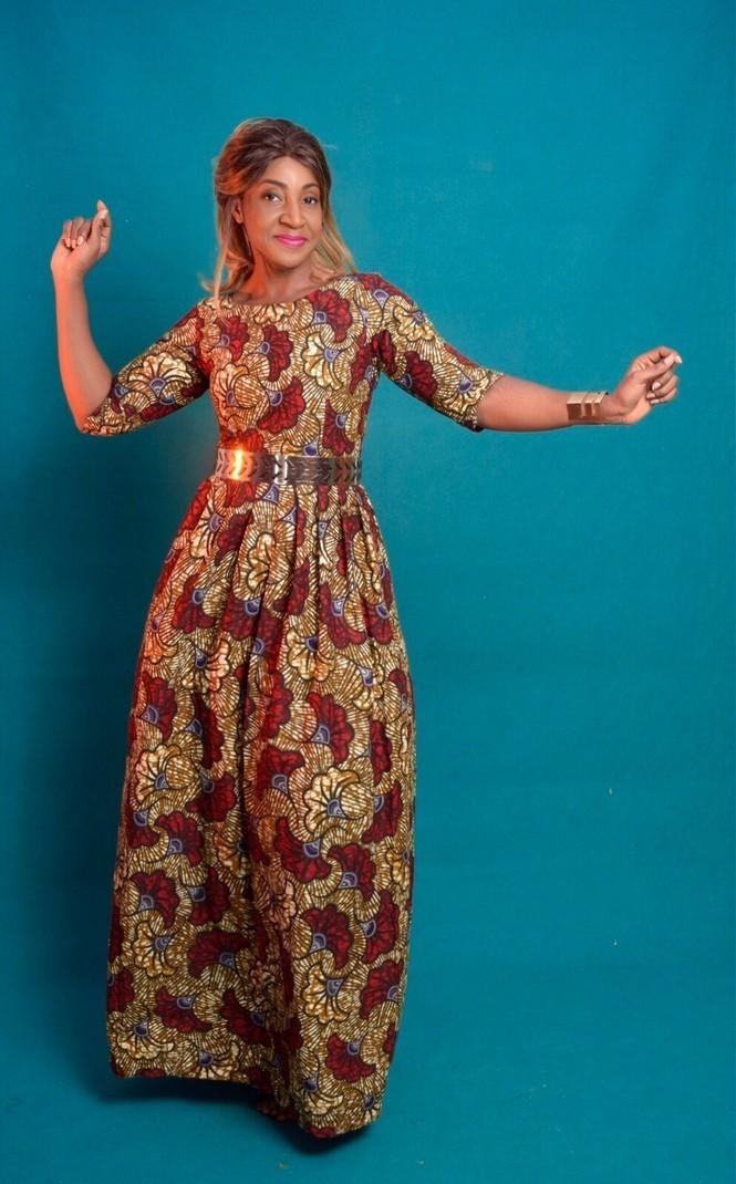 1641cacfdf5 Maxi cotton print dress brown wax by dakrol - Long dresses - Afrikrea