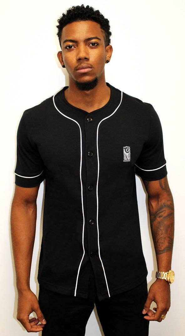0e3a06c2479 Chemise Baseball Noire par ankhera - Chemises manches courtes Homme ...