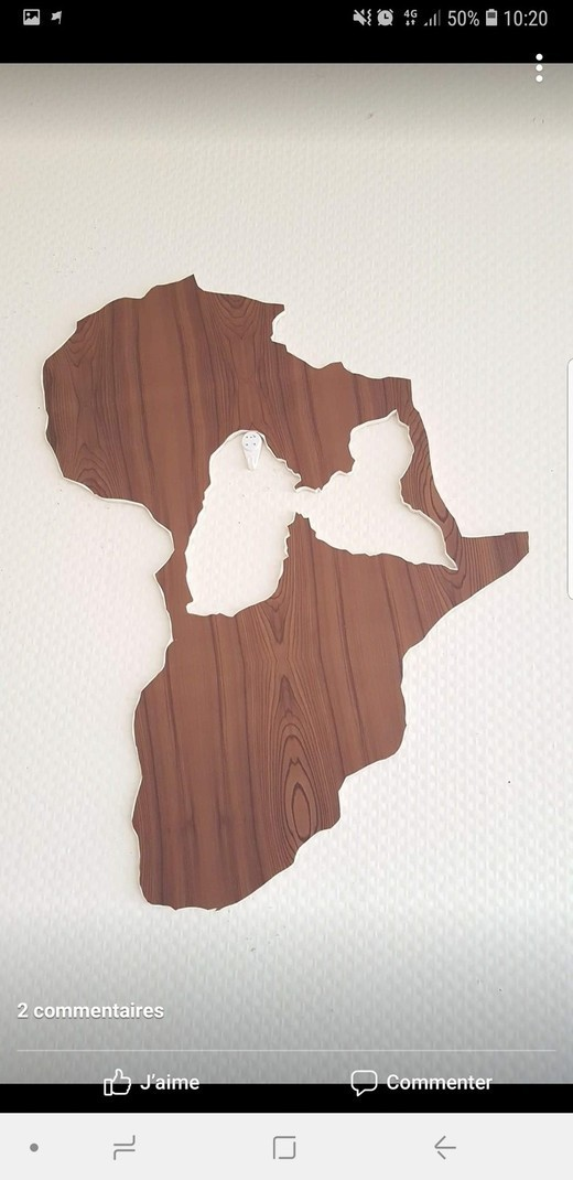 Shape Of Africa Map.Table Shape Africa Map 50 Cm By Antillanart Frames Afrikrea