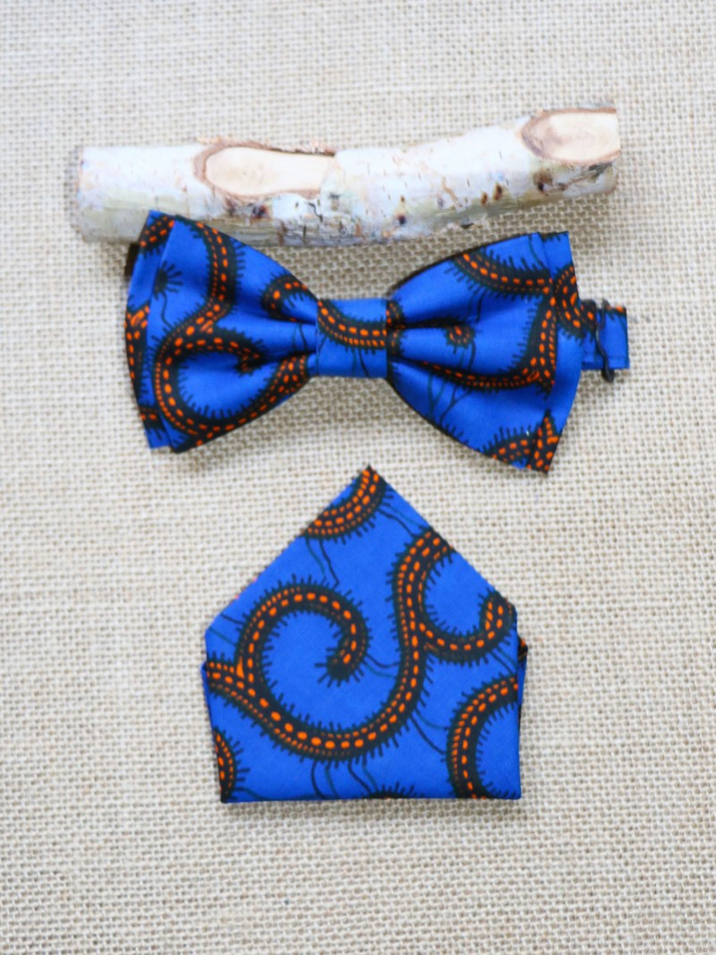 comment avoir nouveaux styles chaussures décontractées Noeud valentin & mouchoir, Wax conseillé bleu, Noeud papillon wax, Tissu  africain - Noeud Papillon bleu, , casual, avec une touche de wax, wax, pour  ...
