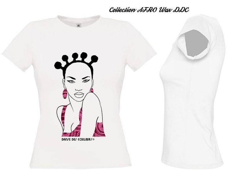 9c60484597c62 TEE-SHIRT FEMME  Collection AFRO CHIC WAX  par danse-des-couleurs ...