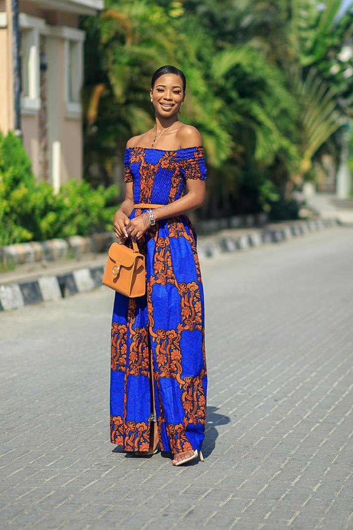 5e35c50bbbf3 Amy smocked African print Dress by nuraniya - Long dresses - Afrikrea