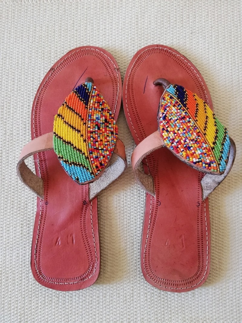 d197b57926ed8 African beaded sandals, Masai sandals, African leather sandals, Beach  sandals, Boho sandals - Sandals, flip flops multicolour, , casual, zulu,  maasai ...