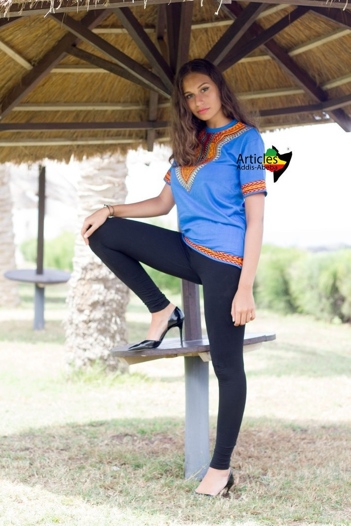 T-shirt Addis-abeba bleu par articles-addis-abeba - T-shirts femme ... 7a739491fa4