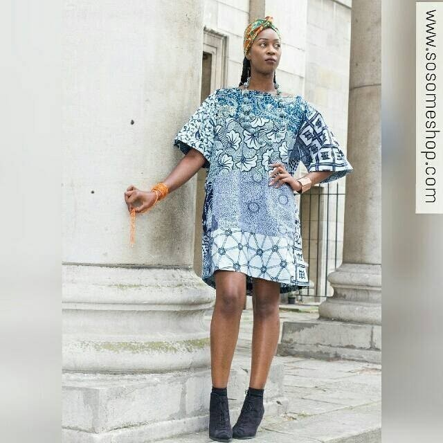 76340c4809f7 Women's clothing Carla mixed African print oversized size dress by ...