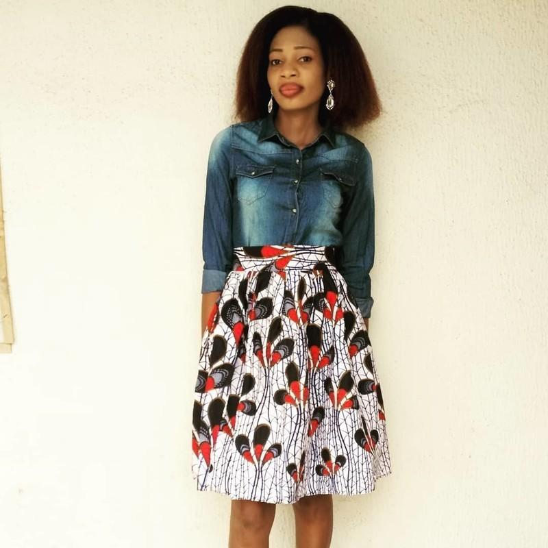 buy best exquisite style exquisite style Jupe EBERE, jupe évasée femme africaine, boutique africaine - Jupes  Mi-longues jupes evasées, multicolore, aucun, look intégral wax, casual,  wax, pour ...