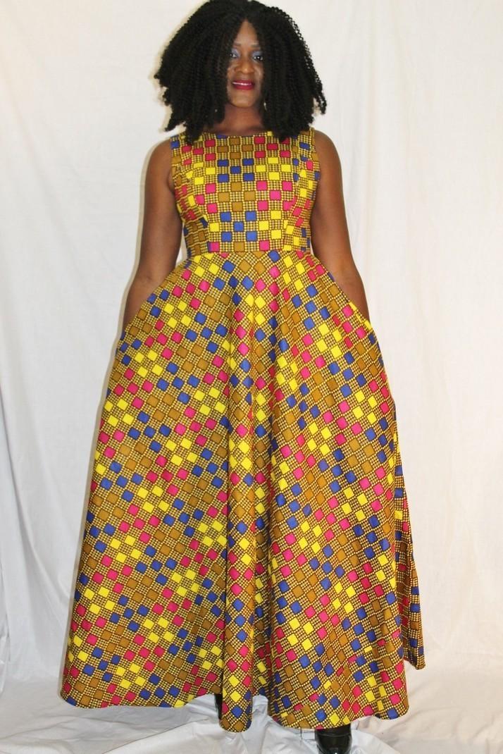 Robe longue wax par dreky-exo - Robes longues - Afrikrea