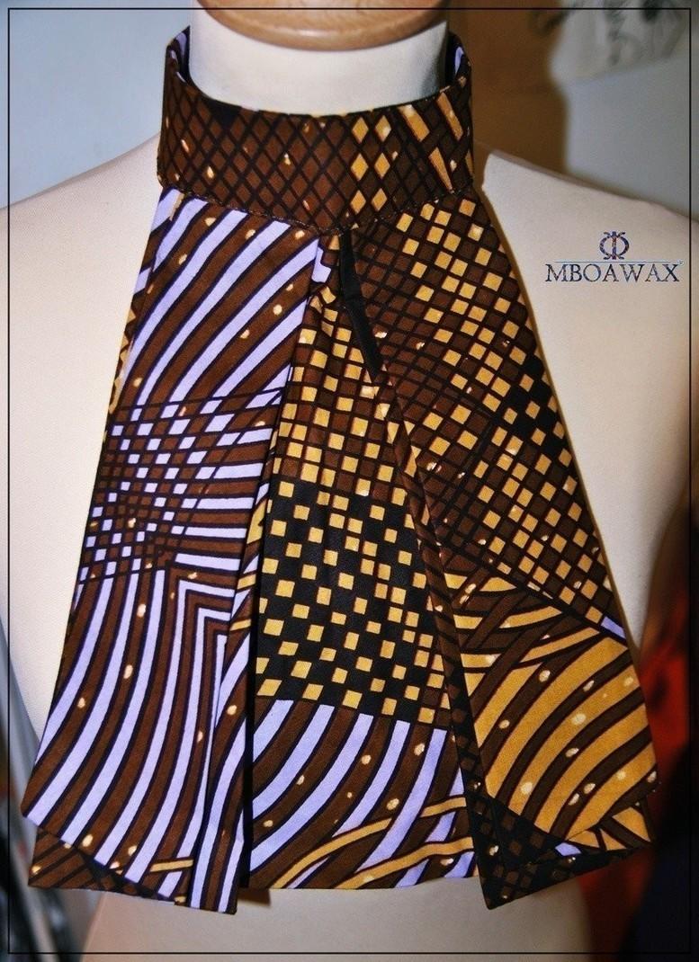 828a79d3c71b2 Col Cravate Jabot en wax pagne par mboawax - Cravates - Afrikrea