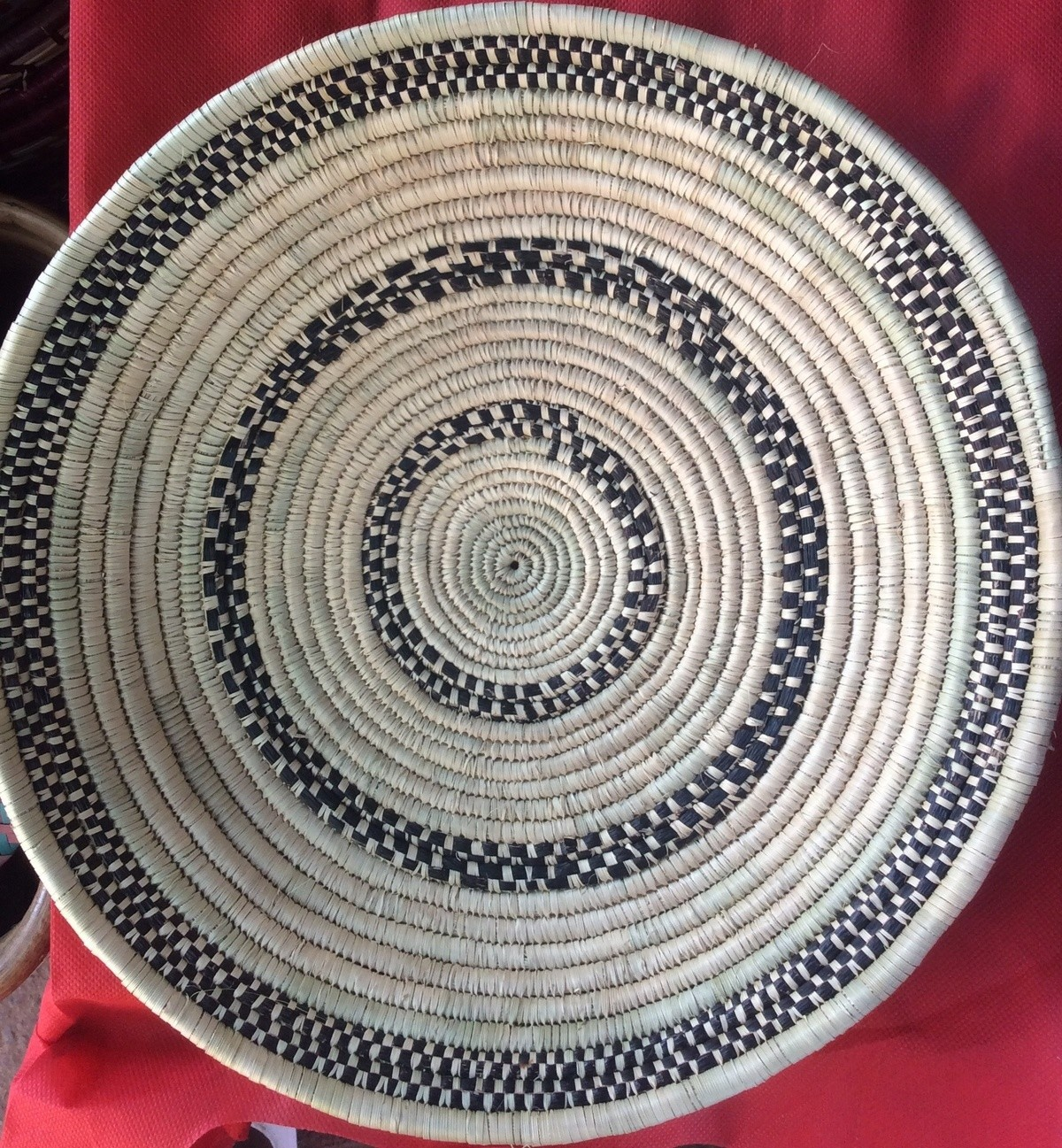 Tenture Africaine Grande Taille panier rwanda, rwanda bowls, tenture africaine