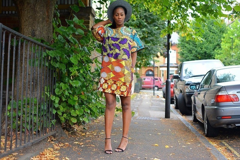 70a4d7fe6dd SosoMe African print Orange Carla Ankara Dress by sosome - Women s ...