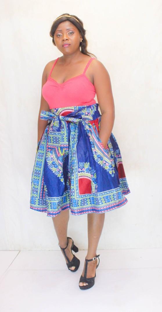92fb851d83 Dashiki midi skirt for women, African skirt, art-Nr. JU-180001 by ...