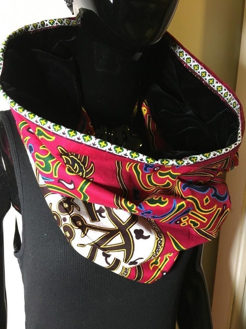 62cead515beb Snood wax foulard echarpe avec velours  19-1 par boutique-orixas ...