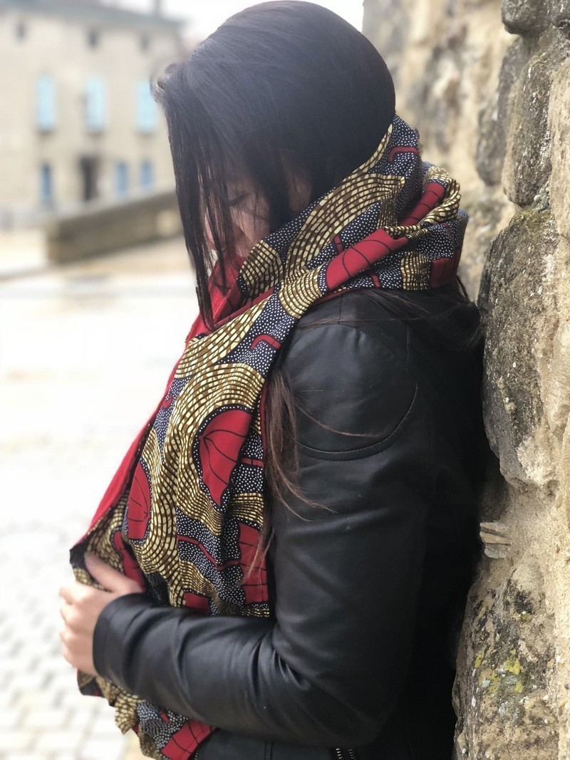 Snood   Scarf   Reversible wool and wax choker Red Umbrellas by ... aa24797d16e