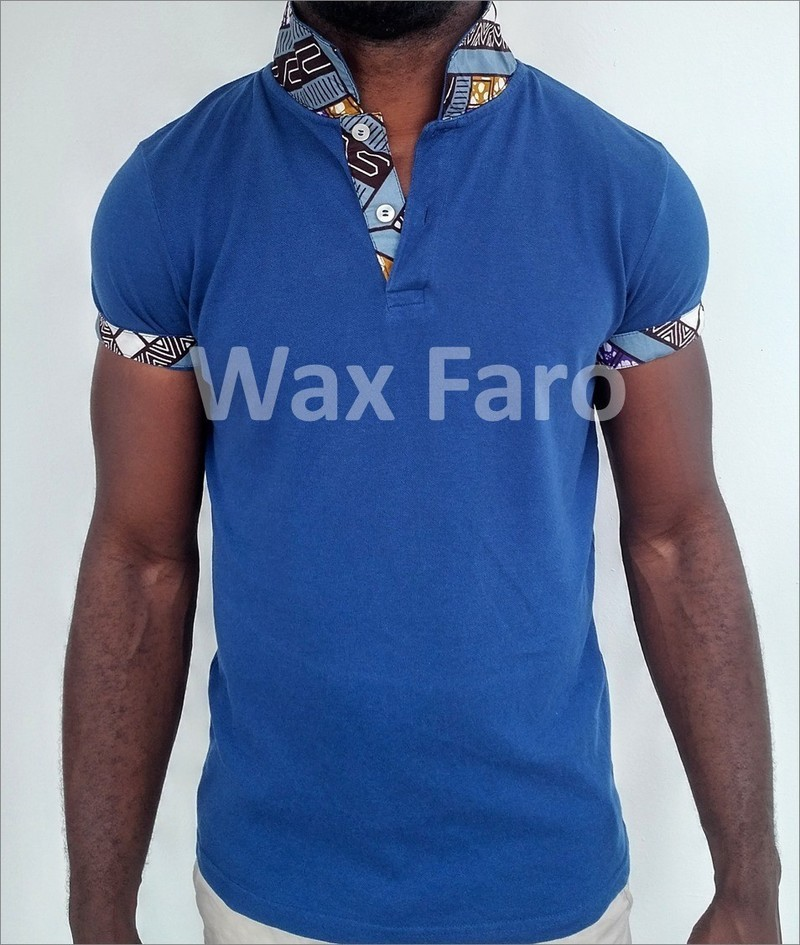 5c21ba7fe6bb Custom polo shirt in wax by wax-faro - Men T-shirts - Afrikrea