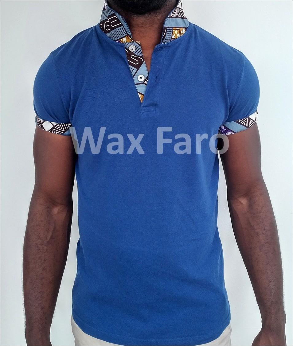 Custom Polo Shirt In Wax By Wax Faro Men T Shirts Afrikrea