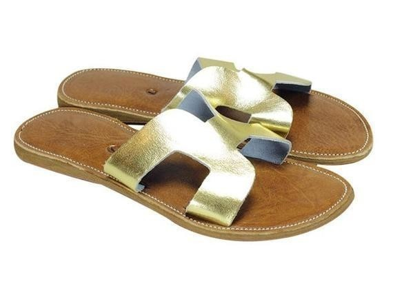 a5032f5dbe0f Big Sale! Summer leather flip flops - Sandal Handmade in Morocco by ...