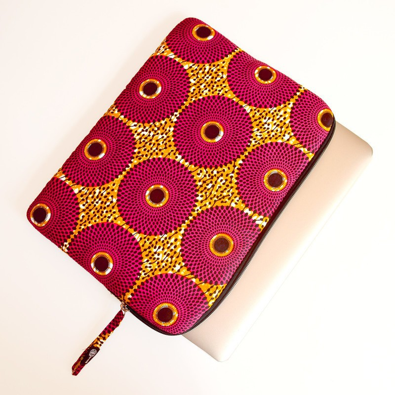 info for d53a6 dc54d 13 inch cotton quilted Dutch cotton cover, Target or Target pattern -  Laptop cases pink, ankara/wax, ankara, prints
