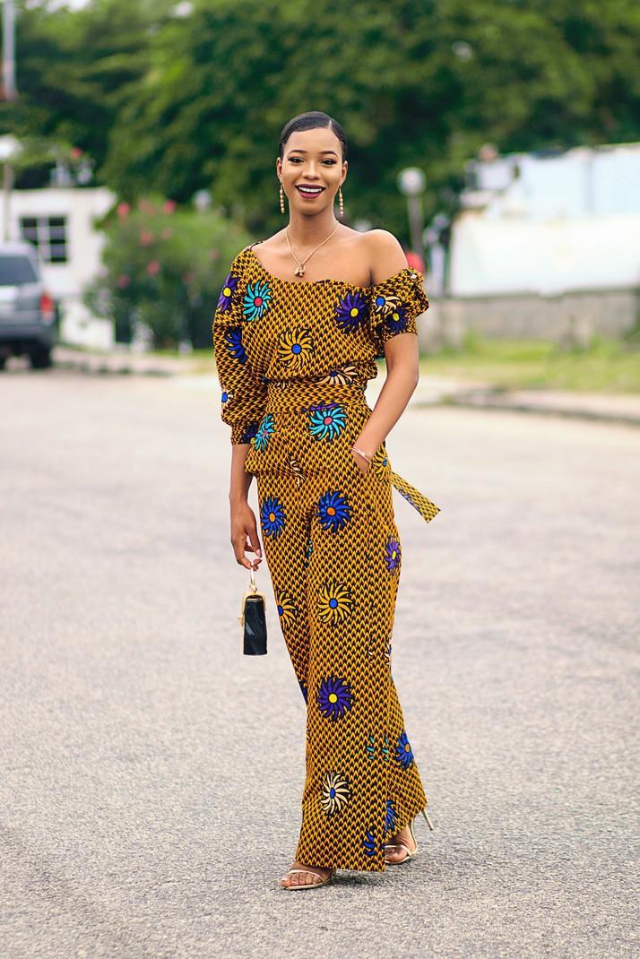 565eda7ad Leah Ankara African Print Jumpsuit - Gold by aden-secret - Mid ...