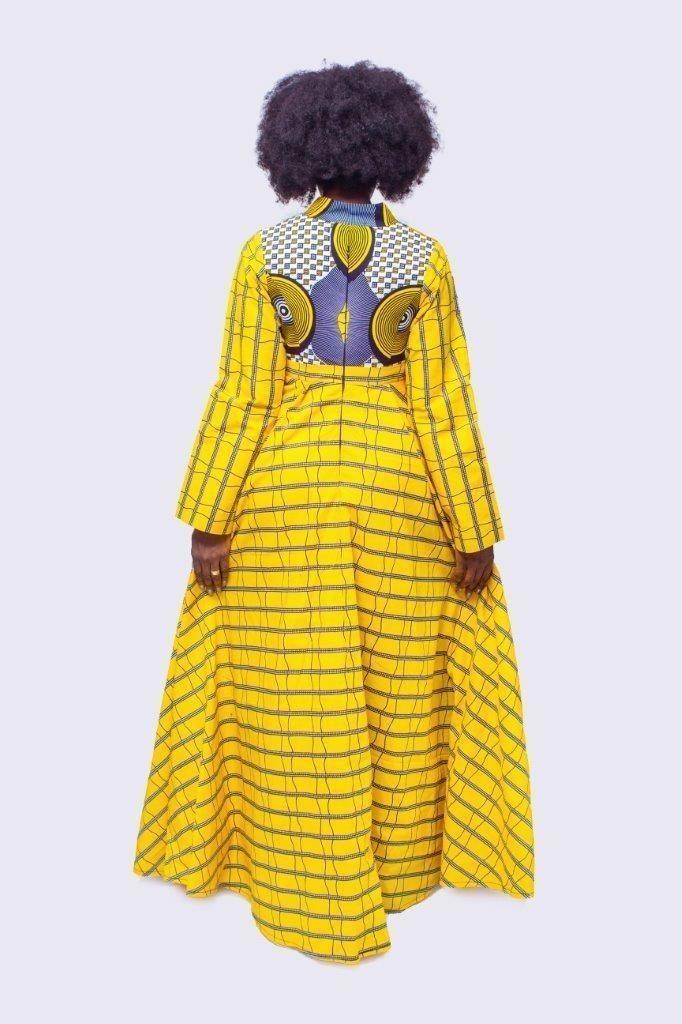 c0be024f913815 Robe longue imprimée et évasée africaine, Robe longue Ankara, Robe ...