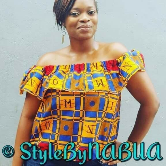 46beba52f4a4c3 Off Shoulder Top, Ankara fabric, African clothing, African style by ...