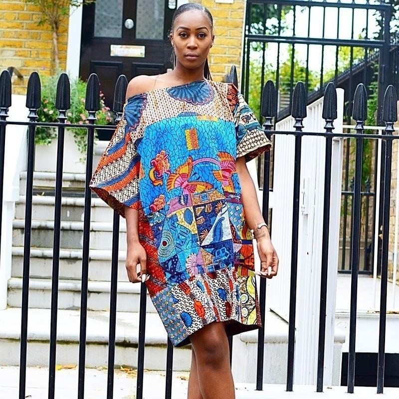 747613db556 Carla mixed African print free size dress by sosome - Women s tunics ...