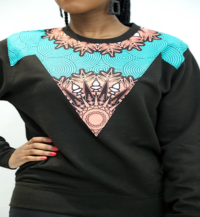 Spirit Sweater Wax Sweaters Black Plus Size And Curves Petite With An Ankara Touch Ankarawax For Her Ankara Cotton None