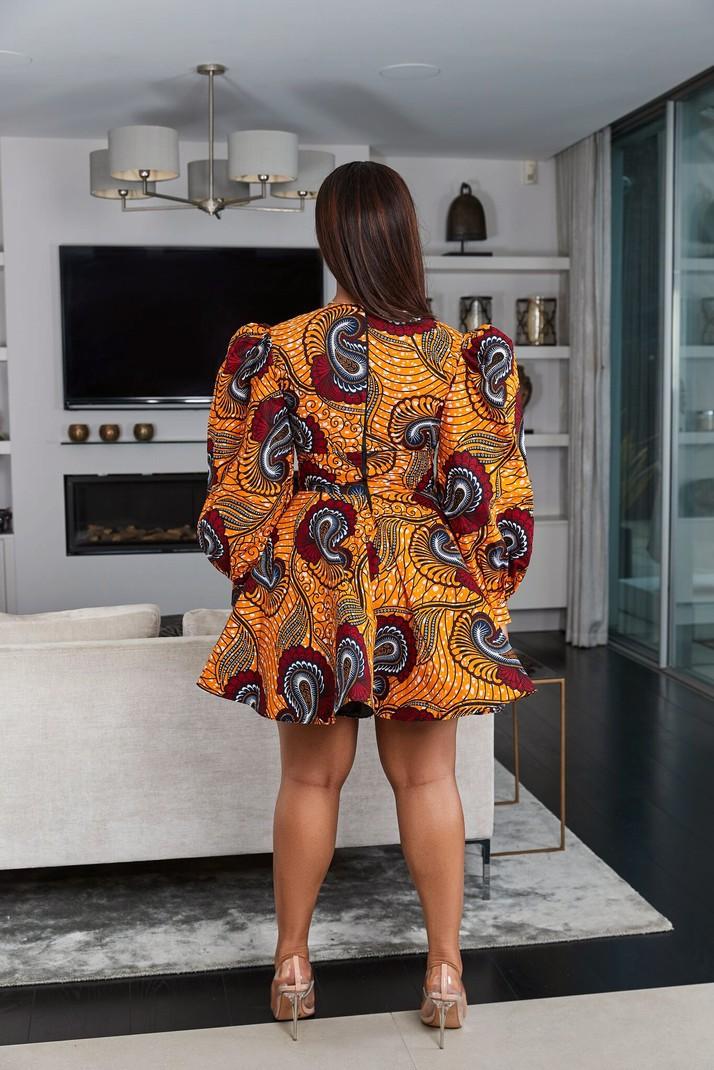 African Print Joelle Dress By Grass Fields Mid Length Dresses