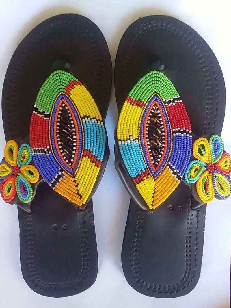 2d5c8f644 African sandals / kenyan sandals / women sandals / Maasai beaded shoes
