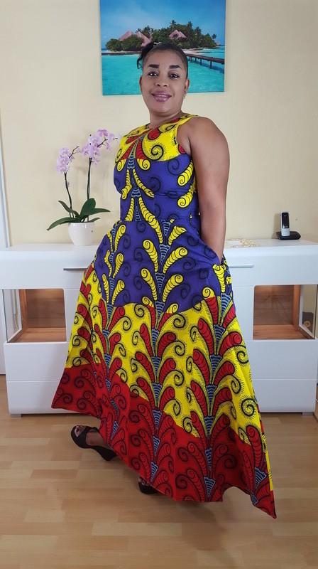 design de qualité 4e6b8 e1b97 Robe Maxi ankara pour dames, Robe africaine grande taille ...