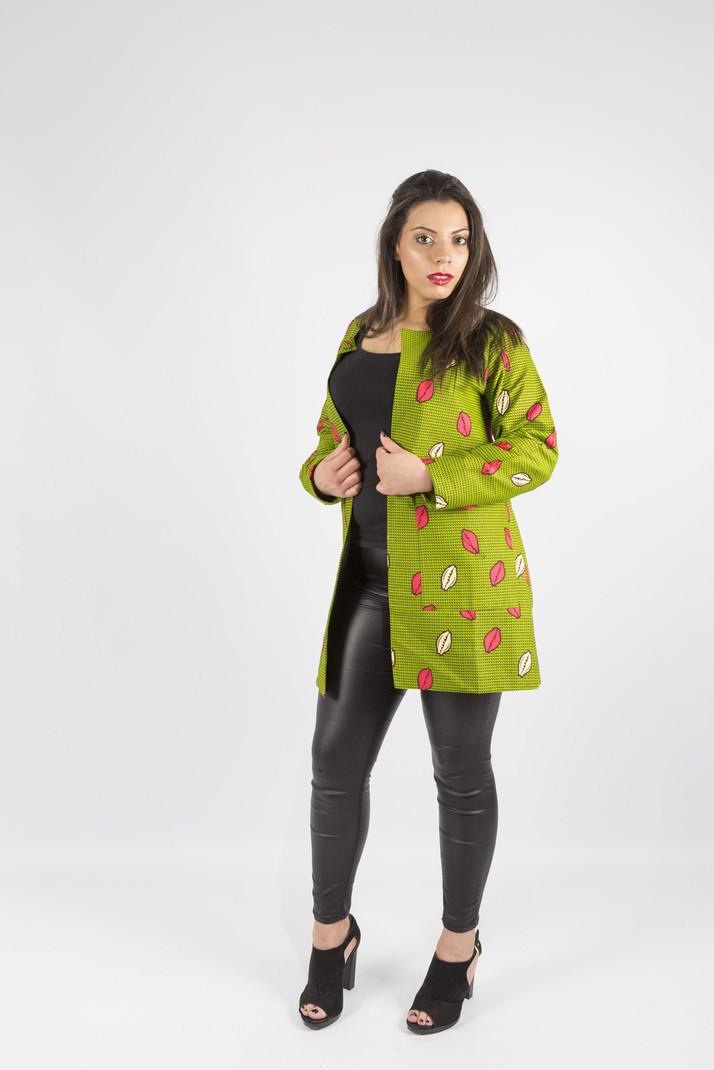 veste wax green cauris par mboawax vestes longues afrikrea