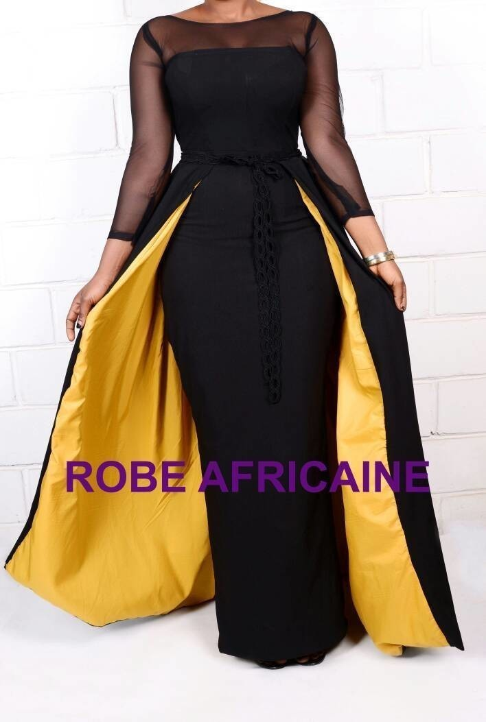 c9761cd2cc2f African Dress with Cape/Prom Dress/Long Dress/Maxi Dress/Black ...