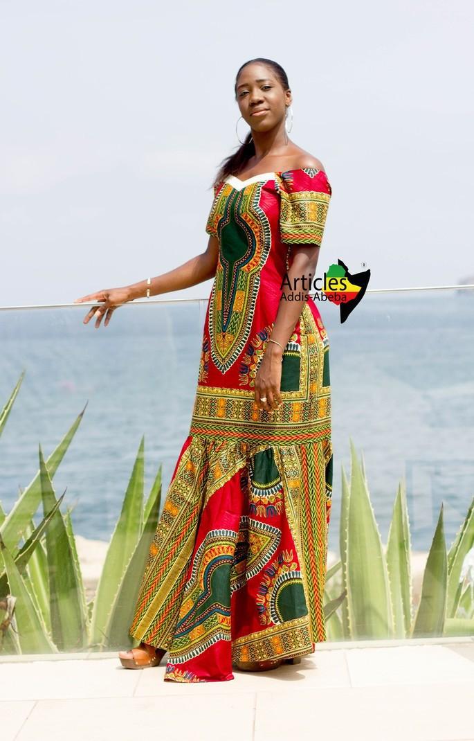 24bb617f92417 Red Addis-abeba Wallet Maxi Dress by articles-addis-abeba - Long ...