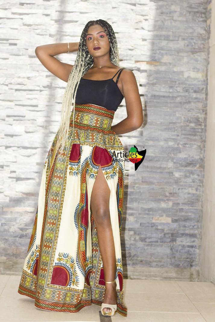 bd7c6071cb6318 Jupe PAPILLON avec fente Addis-abeba - Jupes longues jupes portefeuille,  beige, grande taille et formes, petite, tenues sexy, look intégral wax, ...