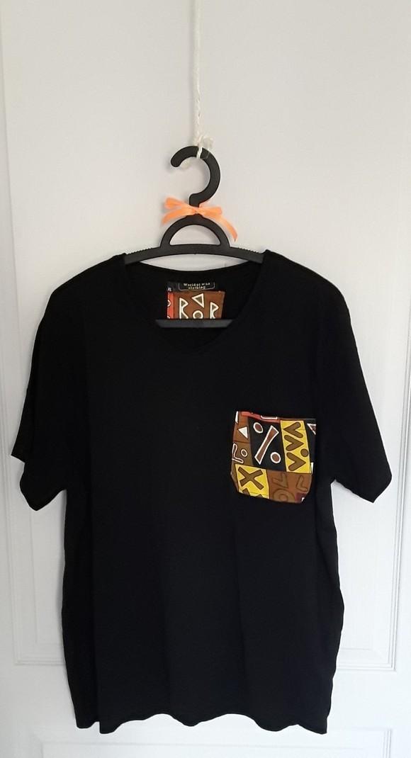 54211aa6b768c Custom t-shirt with wax fabric by worldofwaxclothing - Men T-shirts ...