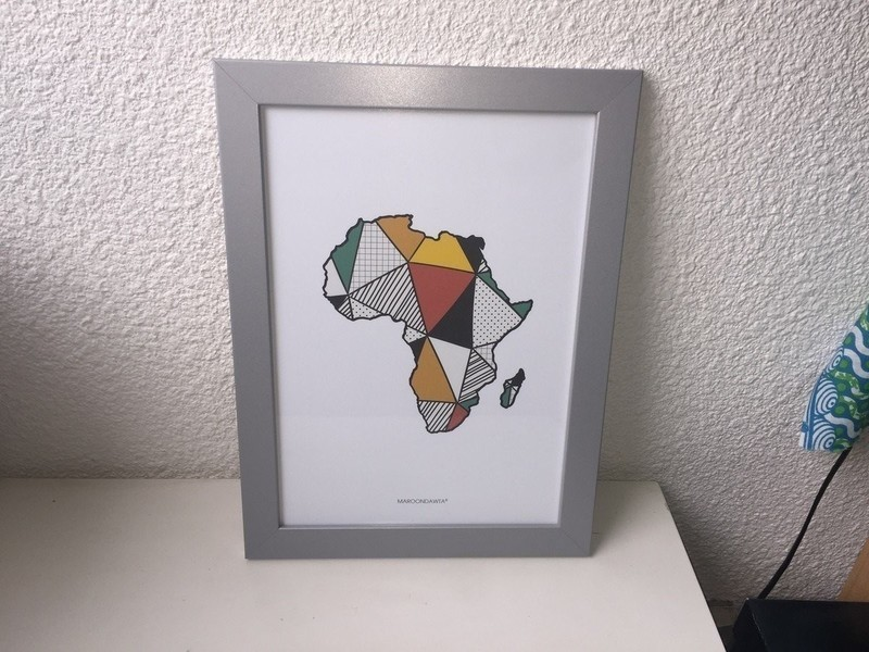Table / African map frame patterns by inamandone - Frames - Afrikrea