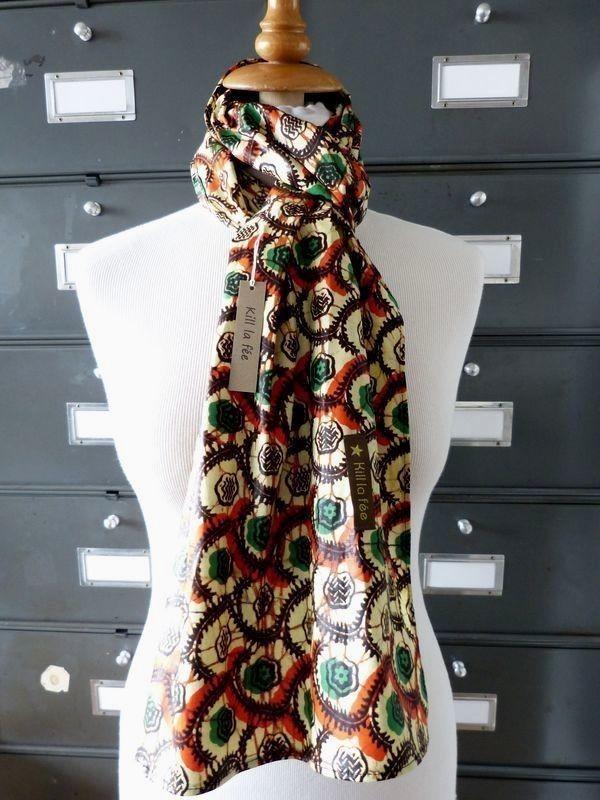 Choker scarf ABI - head scarf - Man Woman Unisex - Wax - F 10 by ... e5ceb359f27