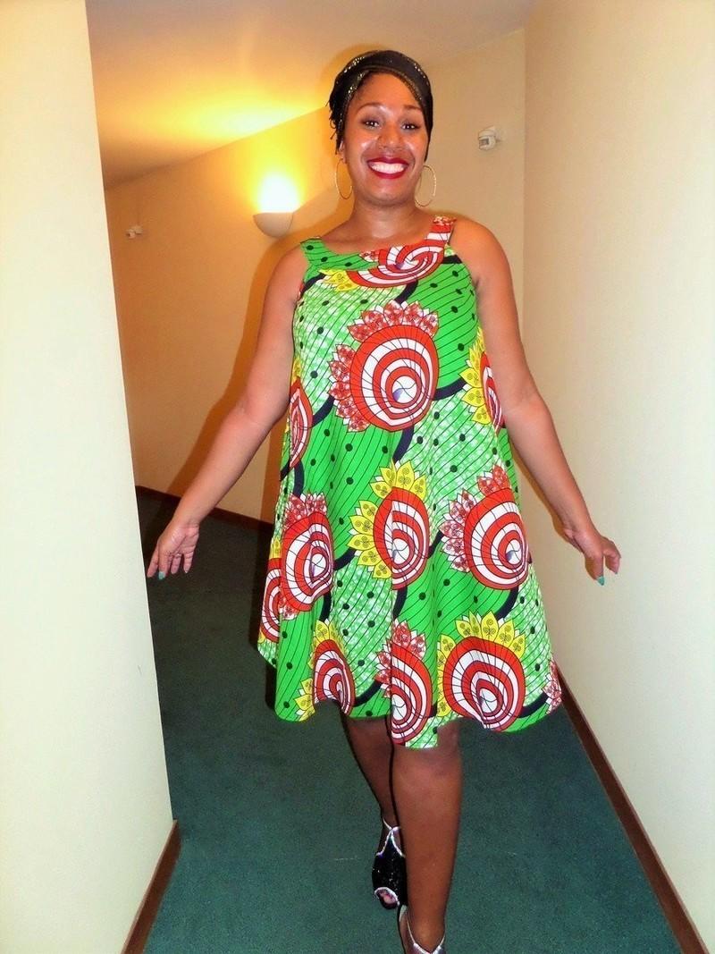 Model robe en pagne pour ceremonie