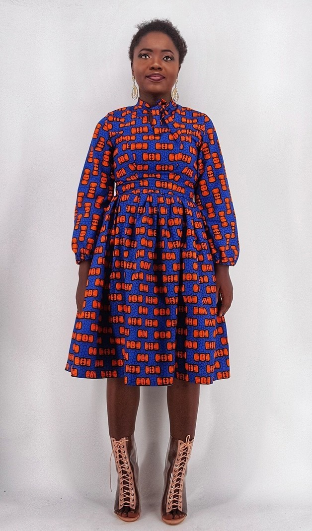 7f93c53673b825 Robe midi africaine Dora, robe de soirée africaine, robe Maxi, robe ...