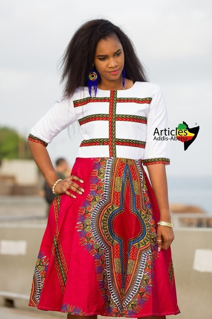 Robe Addis-Abeba DARO Blanche par articles-addis-abeba - Robes ... 7ef8922bb303