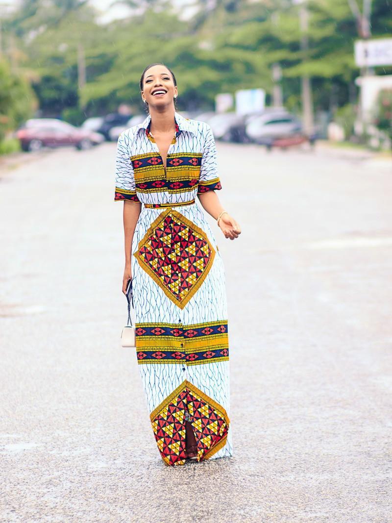 e34c4828f82 Robe imprimée africaine Thando par nuraniya - Robes longues - Afrikrea