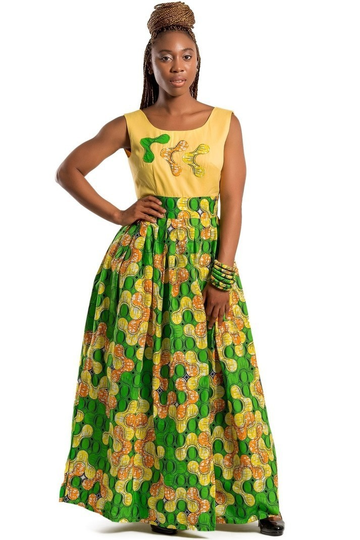 Nakato African print Maxi Dress - Long dresses maxi dresses, yellow,  petite, plus size and curves, with an ankara touch, ankara/wax, for her,  ankara, ...