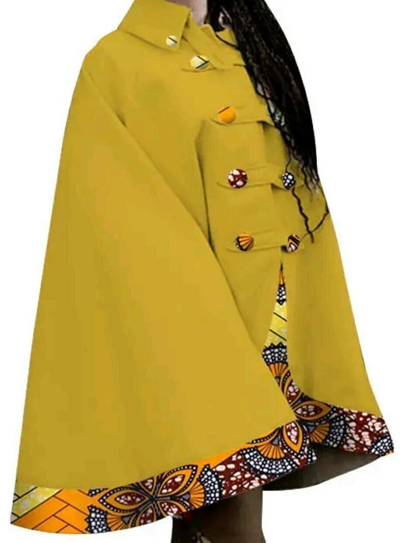 Poncho motif wax africain par waxhonista - Capes et ponchos - Afrikrea 8b353fb11f2